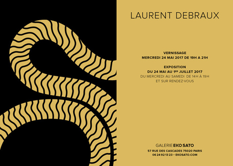 Laurent Debraux   24 mai – 15 Juillet 2017
