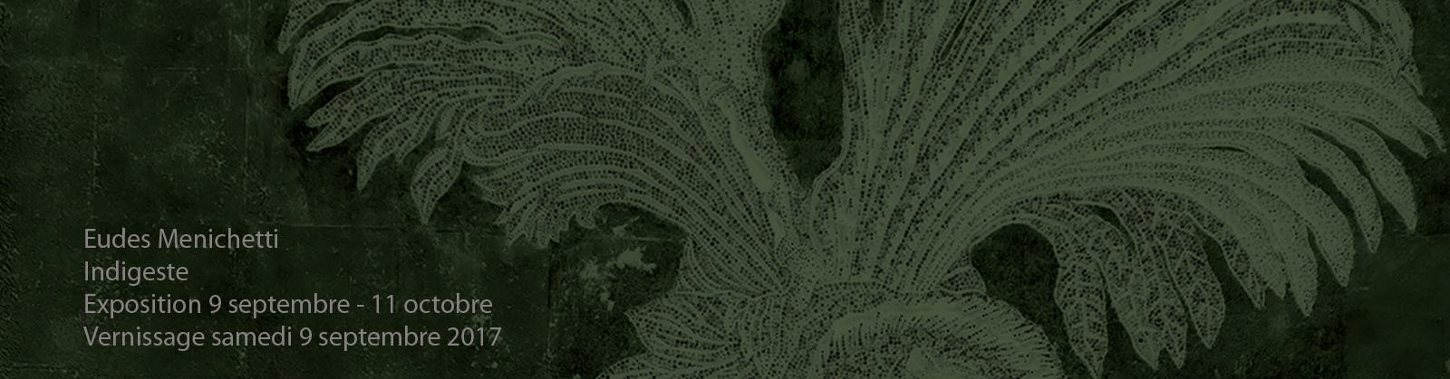 Eudes Menichetti – Indigeste – Galerie Eko Sato – Detail —