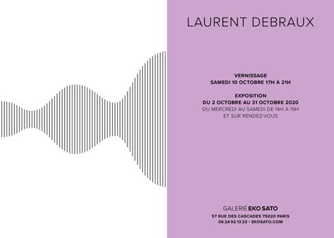 Laurent Debraux   2 – 31 Octobre 2020